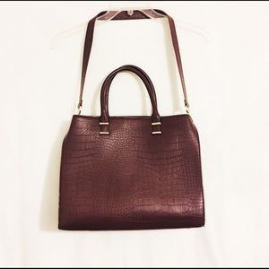 H&M Large Maroon Embossed Travel Bag